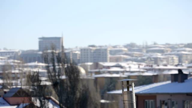 Rauch aus dem Schornstein - Zeitraffer in Ankara