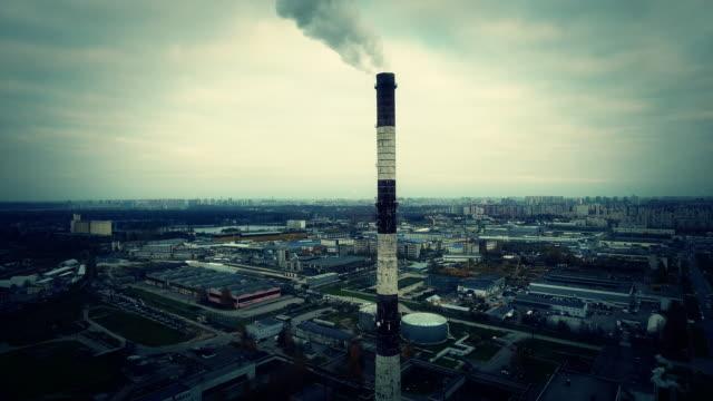 Rauch von Rohr Wärmekraftwerks