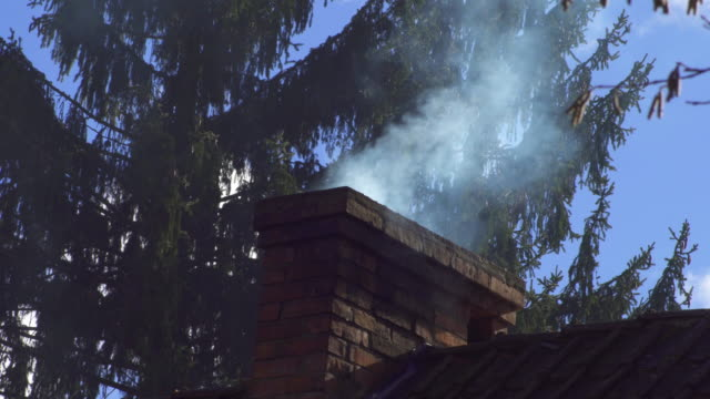smoke from the chimney - smoke stack stock videos & royalty-free footage