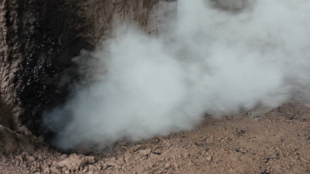 Smoke from the clay oven