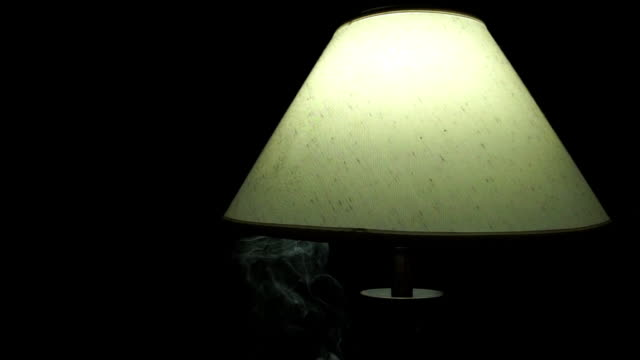 smoke lamp - lamp shade stock videos & royalty-free footage