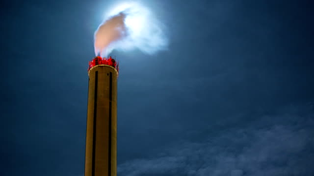 smoke moon chimney time lapse - smoke stack stock videos and b-roll footage