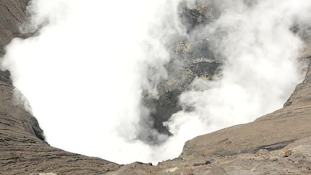 smoke of bromo mount, indonesia - mount bromo stock videos & royalty-free footage