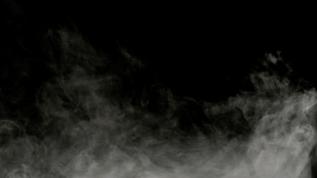 smoke on black background - steam stock videos & royalty-free footage