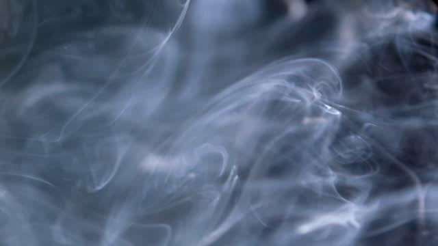 SLOW-MO: Smoke on black background