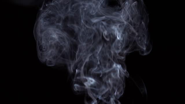 4K: Smoke on black background