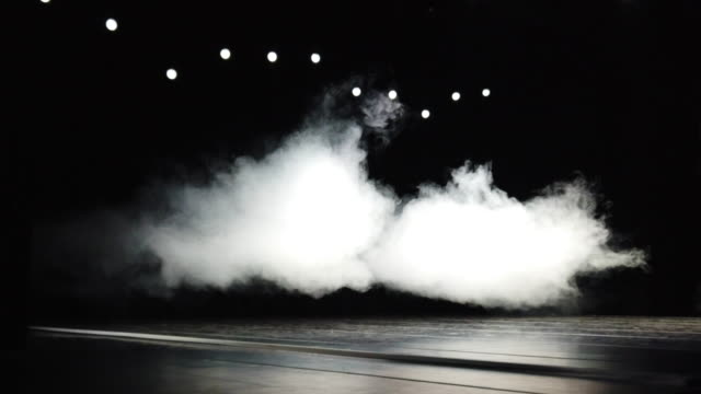 smoke on empty stage - stage performance space stock videos & royalty-free footage