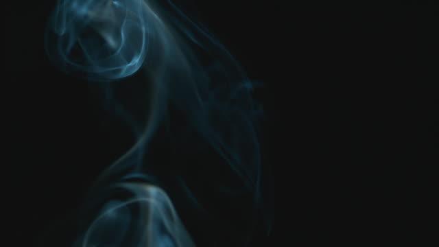 Smoke pattern against black background