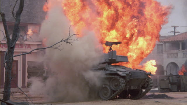 smoke rising from a military tank. - war stock videos & royalty-free footage