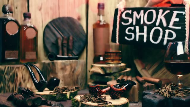 smoke shop showcase with moving light - plank variation stock videos & royalty-free footage