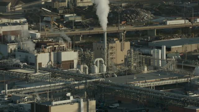 smoke spews from chemical plant - missouri stock videos & royalty-free footage