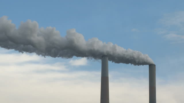 smoke stacks coal power generation emissions - smoke stack stock videos & royalty-free footage