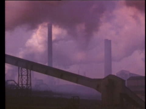 1990 montage smoke stacks, usa, audio - air pollution stock videos & royalty-free footage