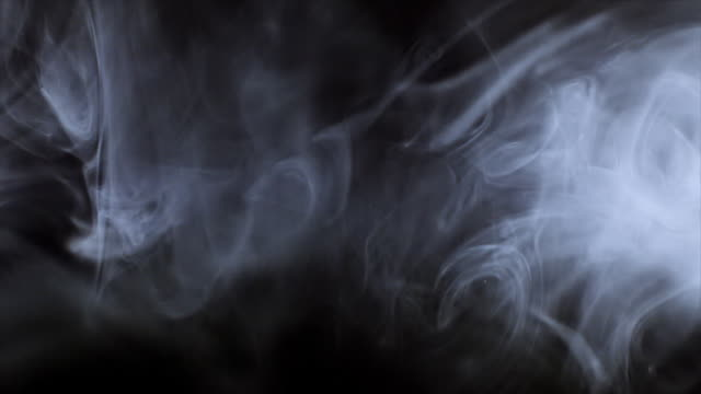 smoke. vapour - black background stock videos & royalty-free footage