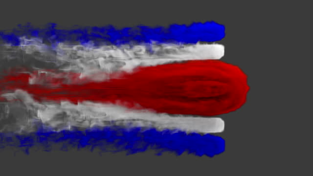 smoke with flag colours on grey background costa rica / uruguay - fifa world cup stock videos & royalty-free footage