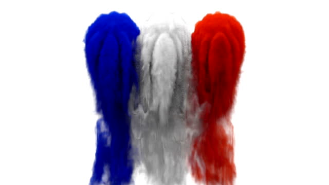 smoke with flag colours on white background france / nigeria - international soccer event stock videos & royalty-free footage