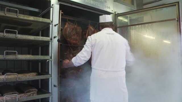 Smokehouse with bacon