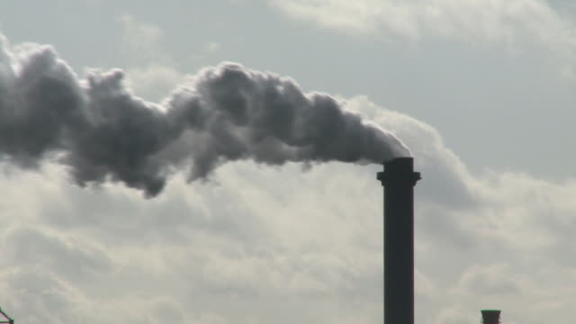 ms smokestack emitting smoke against sky / duisburg, north rhine westphalia, germany - ruhr stock videos & royalty-free footage