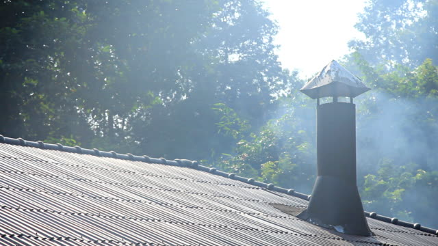 Smokestack on the roof.