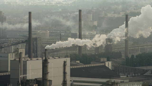 LS smokestacks in petrochemical and steel plant