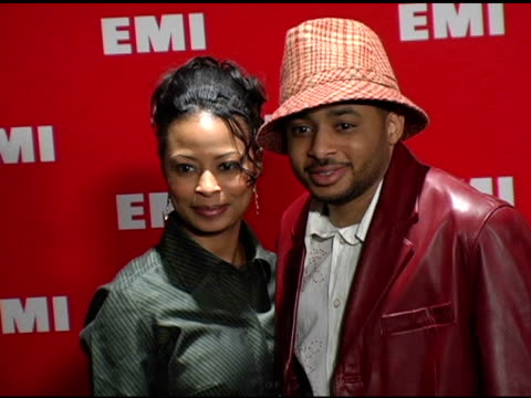 smokey norful and guest at the emi post-grammy awards bash at the beverly hilton in beverly hills, california on february 13, 2005. - emi grammy party stock videos & royalty-free footage