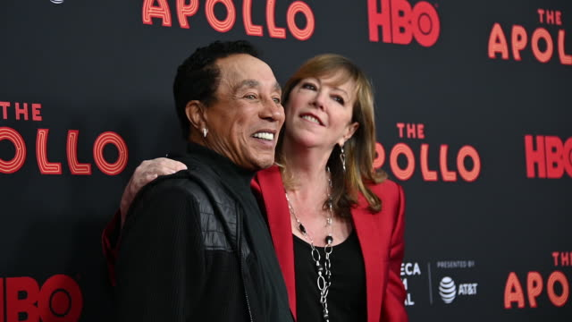 Smokey Robinson Jane Rosenthal at The Apollo 2019 Tribeca Film Festival at The Apollo Theater on April 24 2019 in New York City