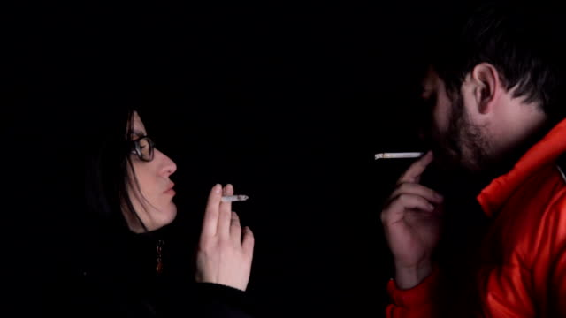 smoking addiction - mid adult couple stock videos & royalty-free footage