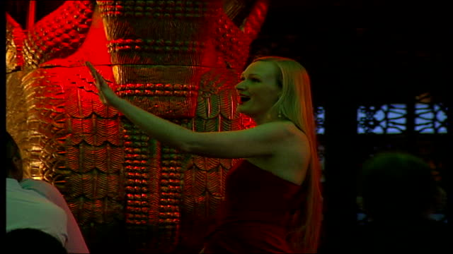 impact on hospitality industry camden int singer in gilgamesh restaurant - taboo singer stock videos and b-roll footage