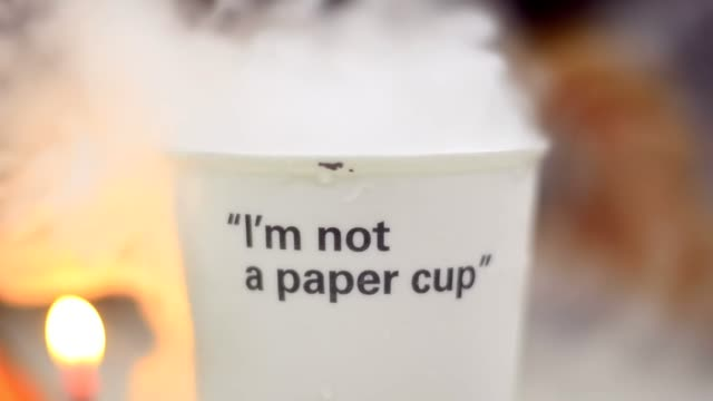 smoking come from cup