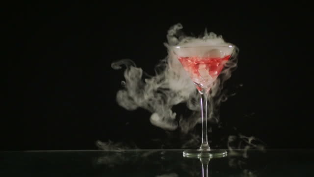 smoking cosmopolitan - cocktail stock videos and b-roll footage