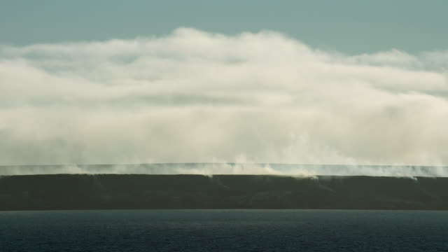 smoking hills at canada's cape bathurst - northwest passage stock videos and b-roll footage