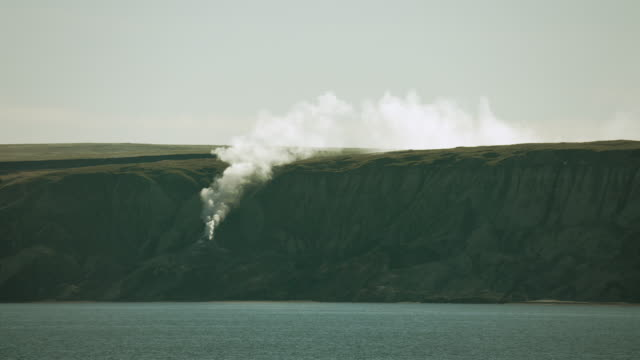 smoking hills on cape bathurst canada - northwest passage stock videos and b-roll footage