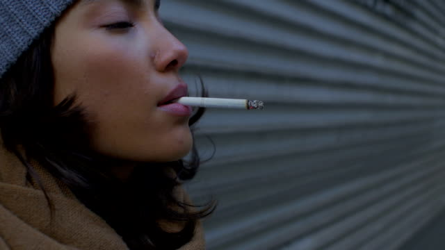 smoking in the winter - smoking issues stock videos & royalty-free footage