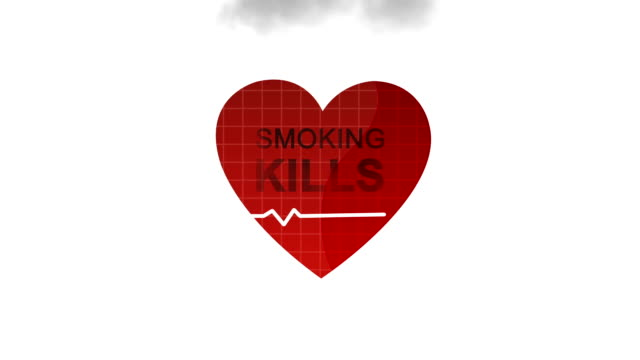 smoking kills - pulsating stock videos and b-roll footage
