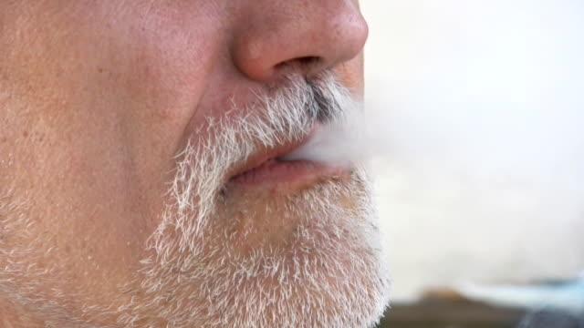 smoking man - beard stock videos and b-roll footage