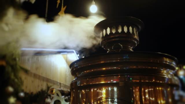 Smoking samovar at night