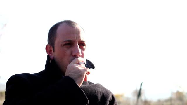 smoking - solitude stock videos & royalty-free footage