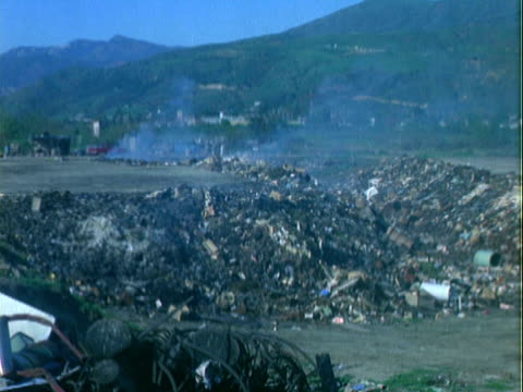 smoldering landfill / united states - rubbish dump stock videos & royalty-free footage