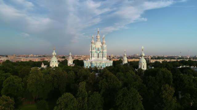 サンクトペテルブルクのスモルニー大聖堂 - 女子修道院点の映像素材/bロール