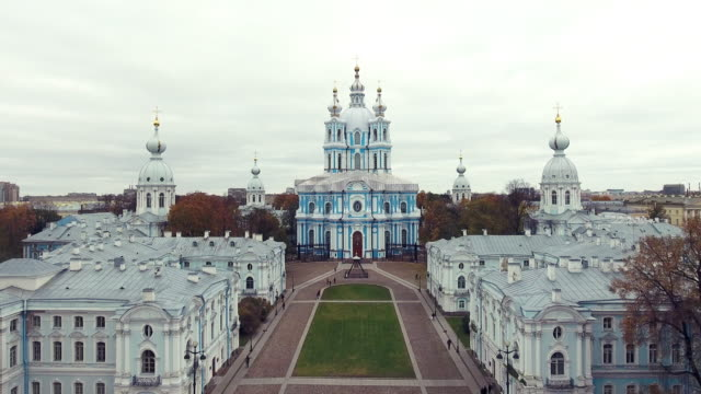 smolny cathedral of the resurrection of christ - resurrection religion stock videos & royalty-free footage