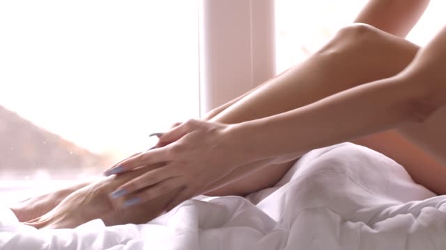 smooth and silky legs - softness stock videos & royalty-free footage
