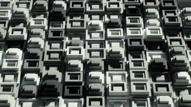 glatte graue fliesen, leicht abgenutzt, nacheinander gelegt - quadratisch zweidimensionale form stock-videos und b-roll-filmmaterial