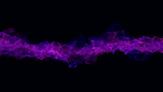 smooth plasma stream slowly flow on black background - digital animation stock videos & royalty-free footage