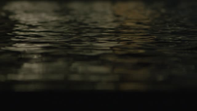 smooth water of a water feature at night - pond stock videos & royalty-free footage
