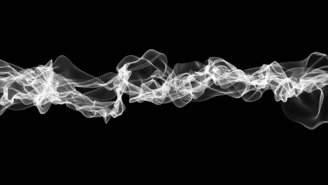 smooth wire frame stream slowly flow on black background - softness stock videos & royalty-free footage