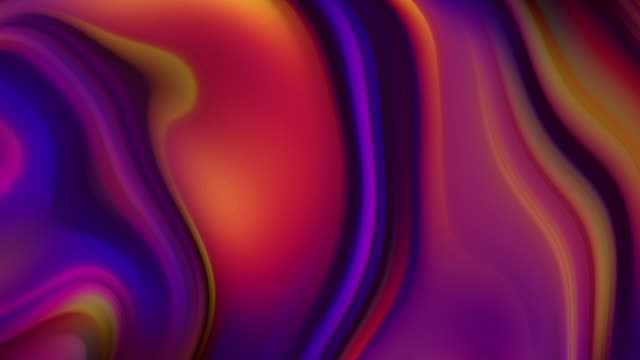 smoothly moving lights. holographic liquid flowing waves abstract video animation - abstract backgrounds stock videos & royalty-free footage