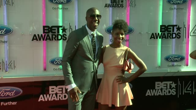 jb smoove and shahidah omar at the 2014 bet awards on june 29 2014 in los angeles california - bet awards stock videos and b-roll footage