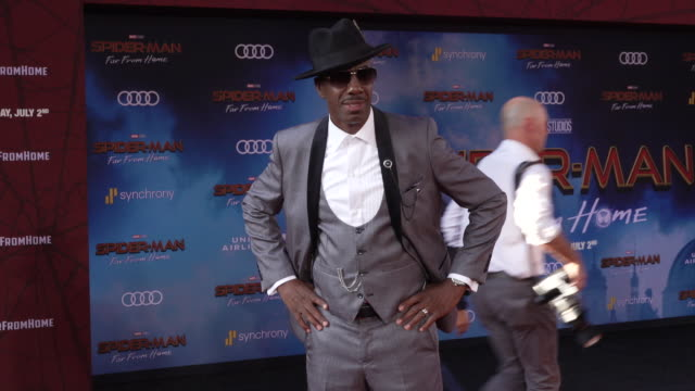 j b smoove at the world premiere of spiderman far from home on june 26 2019 in hollywood california - red carpet event stock videos & royalty-free footage