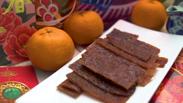 snack for chinese new year - salty snack stock videos & royalty-free footage