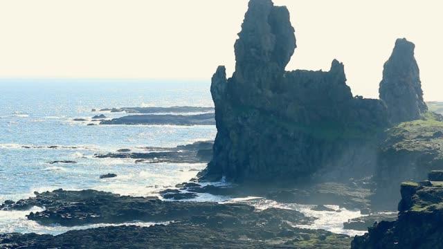 snafellsnes halbinsel, befindet sich westlich des borgarfjörður, west-island - snäfellsnes stock-videos und b-roll-filmmaterial